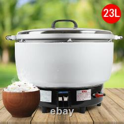 23L 115 Cups Commercial Natural Gas Rice Cooker Restaurant 16KW Non-Stick Pan