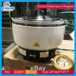 80 Cups Rice Cooker LP Gas Commercial Rice Cooker Propane Cooler Depot New