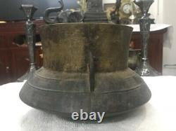 Antique Chinese Solid Brass Rice Cooker 9 Cups