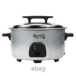 Avantco Commercial 60 Cup (30 Cup Raw) Electric Rice Cooker / Warmer 120V, 1750W