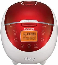 Brand NEW! Cuckoo CR-0655F Rice Cooker & Warmer, 6 Cups, Red/White