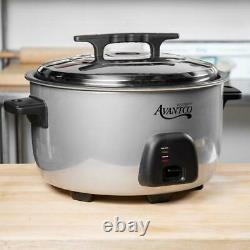 Commercial 60 Cup (30 Cup Raw) Electric Rice Cooker / Warmer 120V, 1750W