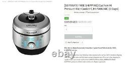 Cuchen IH Pressure Rice Cooker (6 CUPS) Brand New, Never Opened Box. Retail $399
