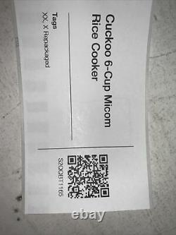 Cuckoo 6-cup Multifunctional Micom Rice Cooker & Warmer