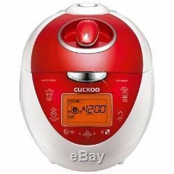 Cuckoo CRP-N0681FV Multifunctional Pressure Rice Cooker 6 Cup, Red