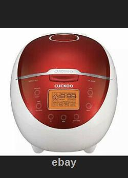 Cuckoo CR-0655F Rice Cooker & Warmer 6 Cups LCD-Display 11-Menu Options Turbo