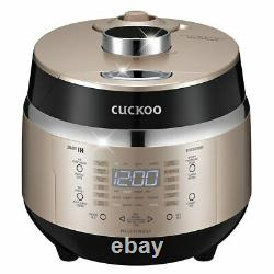 Cuckoo Electric Induction Heating Rice Pressure Cooker (3-Cup) Full Stainle