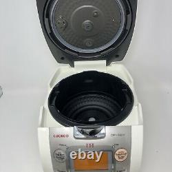 Cuckoo IH Electric Pressure Rice Cooker CRP-HF0610F (6 cups) Ivory/Silver