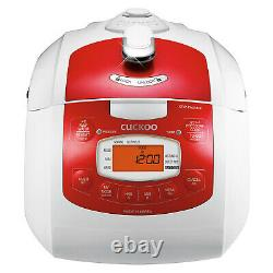 Cuckoo Multi-functional Programmable Six Cup Electric Pressure Rice Cooker, Red