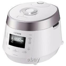 Cuckoo Rice Cooker 10-Cup High Pressure Keep Warm Setting Locking Lid White
