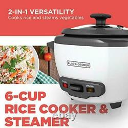Electric Rice Cooker 6 Cup Automatic Keep Warm Non Stick Rice Pot Small White