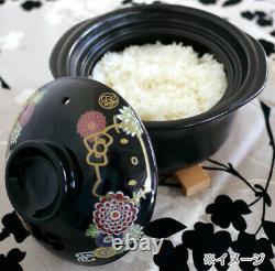 Hello Kitty Banko-yaki 2 Cups Rice Cooker Chrysanthemum Sanrio Japan withTracking#