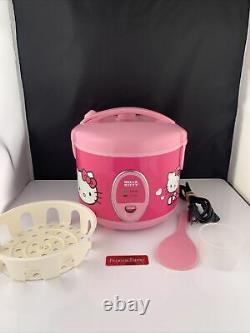 Hello Kitty Pink 1.5 QT 8 Cup Rice Cooker Steamer Tested And Working