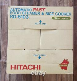 Hitachi Chime-O-Matic Model RD-6103 10-Cup Rice Cooker Food Steamer Brand New