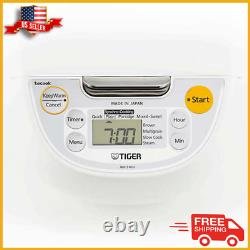 Japanese Tiger 5.5-Cup Micom Rice Cooker & Warmer Stainless Steel Pot NEW
