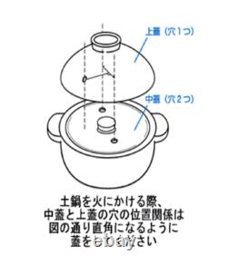 NAGATANIEN CT-50 KAMADO-SAN Earthenware Pot for 5cups rice