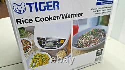 NEW Japanese Tiger 5.5-Cup Micom Rice Cooker & Warmer Stainless Steel FREE SHIP