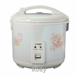 NEW Tiger JNP-1000-FL 5.5-Cup (Uncooked) Rice Cooker and Warmer, Floral White