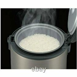 NEW Tiger JNP-S18U-HU 10-Cup Uncooked Rice Cooker & Warmer, Stainless Steel Gray