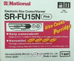National Electric Rice Cooker & Warmer SR-FU15N 8 Cup Made in Japan Pink