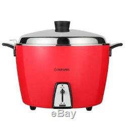 New TATUNG TAC-20L-DV2R 20 CUP Rice Cooker (Stainless Inner Pot) AC 220V Red