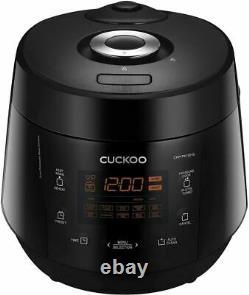 OB Cuckoo CRP-PK1001S Pressure Rice Cooker, 10 Cups, Black