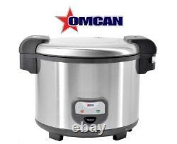 Omcan 39454 commercial Rice Cooker 60 Cups Steamer Boiler Cooker Warmer