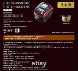 Panasonic IH ELECTRONIC RICE COOKER SR-SSS105-RK1.0L from Japan DHL Fast Ship