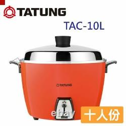 (Red) NEW TATUNG TAC-10L 10 CUP Rice Cooker Pot Voltage AC 110V Red