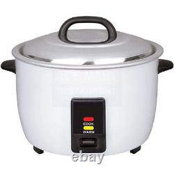 Rice Cooker 23 Cup, White Painted Body