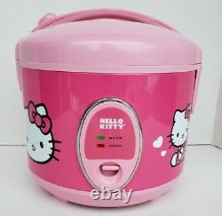 Sanrio Hello Kitty Pink Rice Cooker 1.5 Quart 8 Cup & Vegetable Steamer Tray New