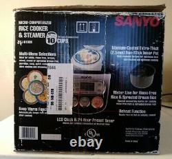Sanyo Rice Cooker 10 Cups ECJ-D100S/Excellent Used Condition