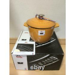 Staub La Cocotte de GOHAN Mustard M 16cm Rice Cooker 2 Cup Casting Hollow Pot /5
