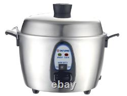 Tatung 6-Cup Stainless Steel Multi-Functional Rice Cooker TAC-11KN UL New