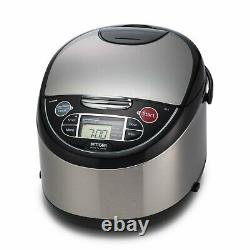 Tiger 10 Cup Microcomputer Controlled Rice Cooker and Warmer Stainless Steel