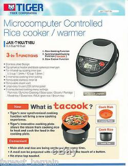 Tiger JAPAN JAX-T10U 5 cups Microcomputer Controlled Rice Cooker NEW