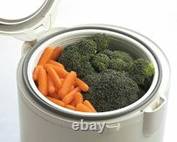Tiger JAZ-A10U-FH 5.5-Cup (Uncooked) Rice Cooker and Warmer with Steam Basket, F