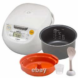 Tiger JBV-S10U Tiger 5.5-Cup Micom Rice Cooker & Warmer NEW in Box White color