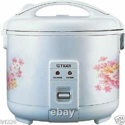 Tiger JNP-0720-FL 4-Cup (Uncooked) Rice Cooker and Warmer, Floral White