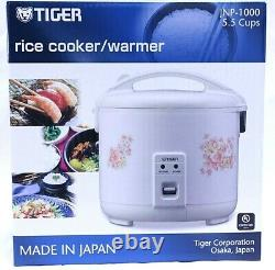 Tiger JNP-1000-FL 5.5-Cup (Uncooked) Rice Cooker and Warmer, Floral White