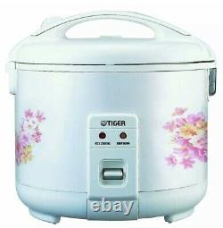 Tiger JNP-1800 10-Cup (Uncooked) Rice Cooker and Warmer in Floral White New