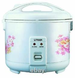 Tiger JNP-1800-FL 10-Cup (Uncooked) Rice Cooker and Warmer, Floral White