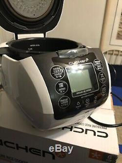 Used Cuchen Premium IH Pressure Rice Cooker 6Cup, Black And White Model WPA-C060