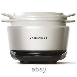 Vermicular Rice Pot mini Rice Booker 3 cups RP19A-WH Sea Salt White 100V Japan
