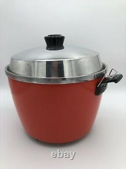 Vintage TATUNG TAC-6H 6 Cup Multi Rice Cooker Steamer Warmer AC 220V Orange Red