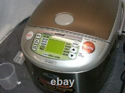 ZOJIRUSHI 10-CUP RICE COOKER & WARMER WithINDUCTION HEATING NP-HBC18TESTEDNICE