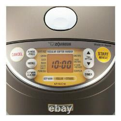 ZOJIRUSHI Induction Heating Pressure Rice Cooker Warmer 5.5 Cup Stainless Brown