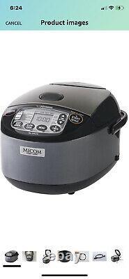 Zojirushi 10 Cup Umami Micom Rice Cooker & Warmer Metallic Black -NL- GAC18BM