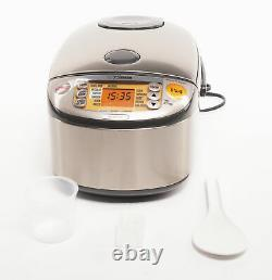 Zojirushi Induction Heating System 10 Cup Rice Cooker and Warmer Dark Gray