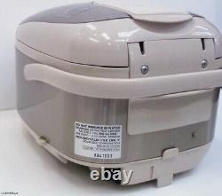 Zojirushi Mahovin Microcomputer Rice Cooker 3-Cup Stainless Steel Color